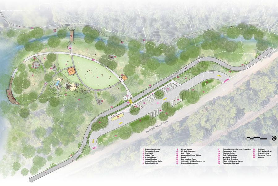Iron Mountain Park drawing