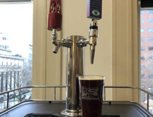 Our kegerator is christened!