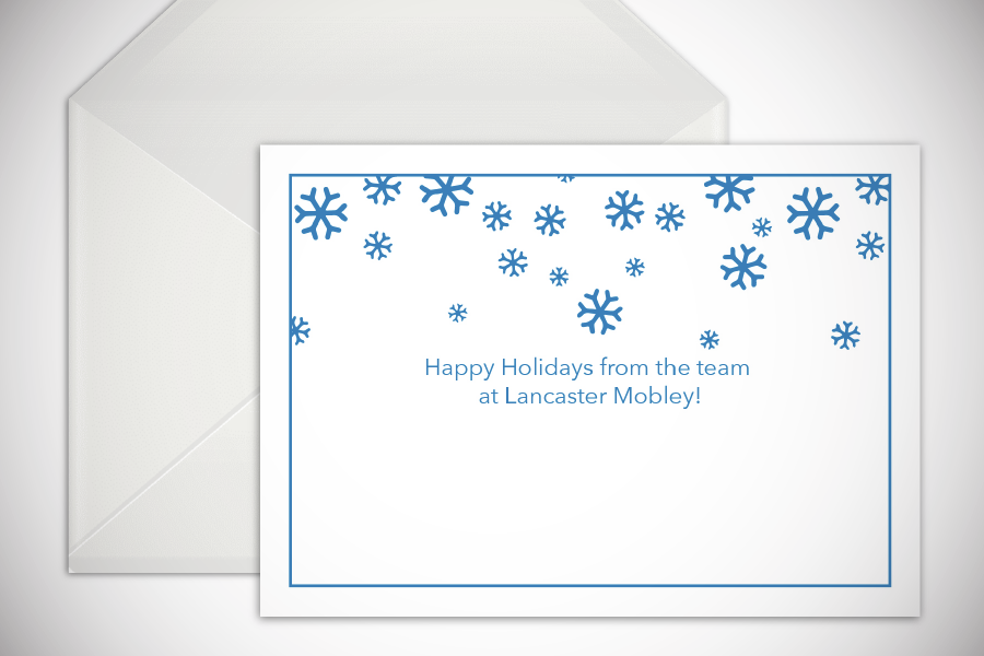 Lancaster Mobley holiday card 2020