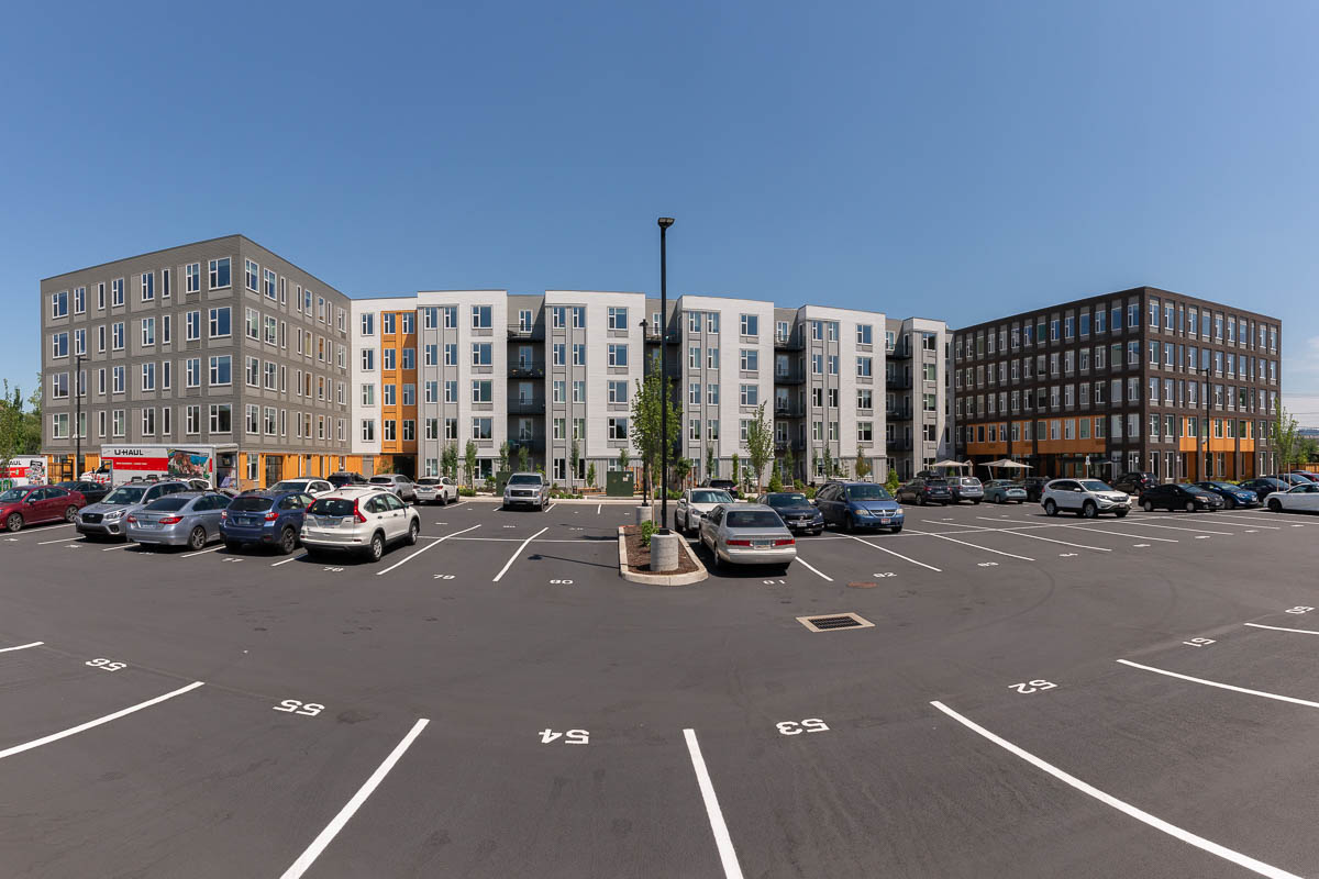 Verso Apartments, Lombard Mixed-Use Building, Beaverton, Lancaster Mobley project